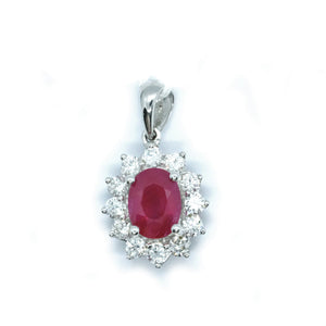 Classic Ruby & Diamond Pendant - Johnny Jewelry