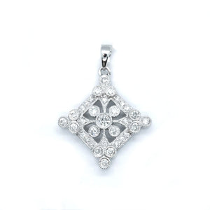 Victorian Style Diamond Pendant - Johnny Jewelry