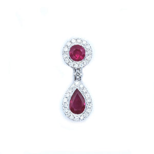 Ruby & Diamond Dew Drop Pendant