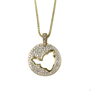 Pave Diamond Island Pendant - Johnny Jewelry