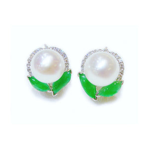 Pearl & Jade Earrings - Johnny Jewelry
