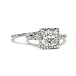Princess Halo with Wedding Band - Johnny Jewelry