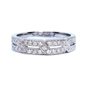 Art Deco Mini Diamond Band
