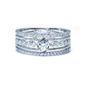 Lacy Multi Band Diamond Ring