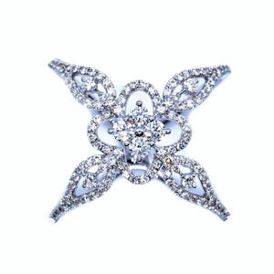 Lacy Cross Diamond Ring - Johnny Jewelry