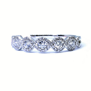 Lacy Bubble Diamond Ring