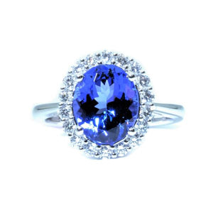 Classic Tanzanite & Diamond Ring - Johnny Jewelry