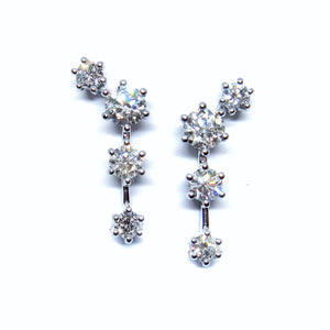 Shooting Star Diamond Earrings - Johnny Jewelry