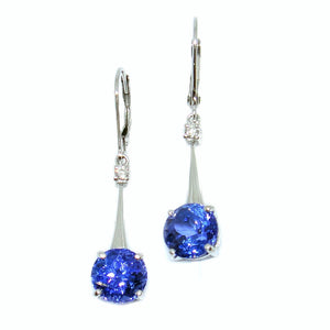 Tanzanite Drop Earrings - Johnny Jewelry