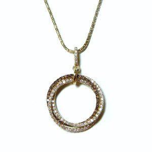 Trinity Tri-Color Diamond Pendant - Johnny Jewelry