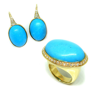 Turquoise & Diamond Set - Johnny Jewelry