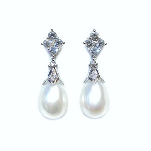 Victorian Style Pearl Drop Earrings - Johnny Jewelry
