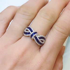 Ribbon Sapphire & Diamond Ring - Johnny Jewelry