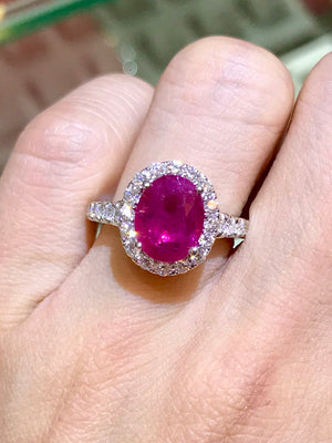 Classic Ruby & Diamond Ring - Johnny Jewelry