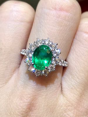 Classic Emerald & Diamond Ring
