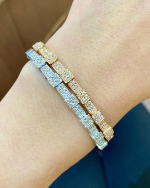 Pave Diamond Open Cuff