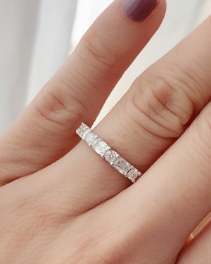 3mm Round & Emerald Cut Diamond Band