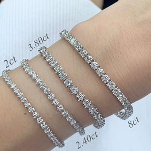 8CT TW Diamond Tennis Bracelet