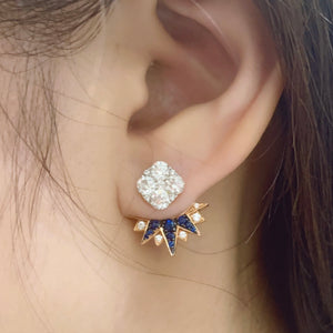Stardust Sapphire & Diamond Earrings Enhancer - Johnny Jewelry