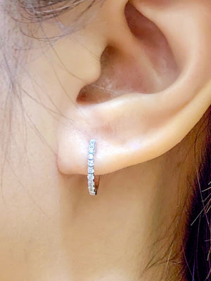 Diamond Huggie Earrings - Johnny Jewelry