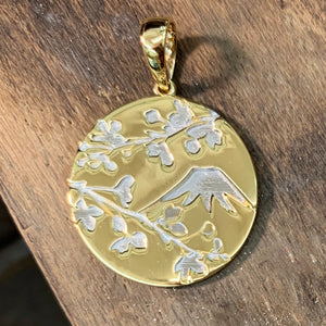 Serenity Mt. Fuji & Sakura Cherry Blossom Pendant - Johnny Jewelry