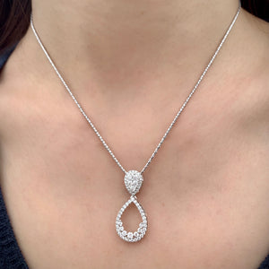 2-in-1 Pear Shaped Diamond Pendant - Johnny Jewelry
