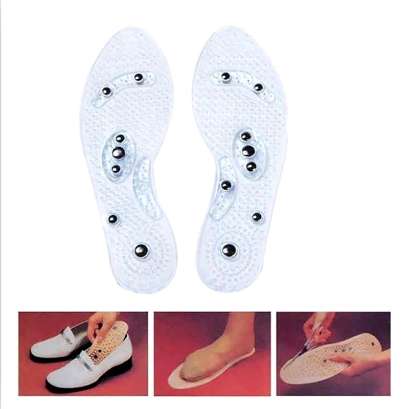 Acupressure Acupuncture Insoles Blood Circulation Foot Massage Shoes Nano Silver