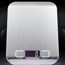 STEEL DIGITAL KITCHEN SCALE (with White Backlight)