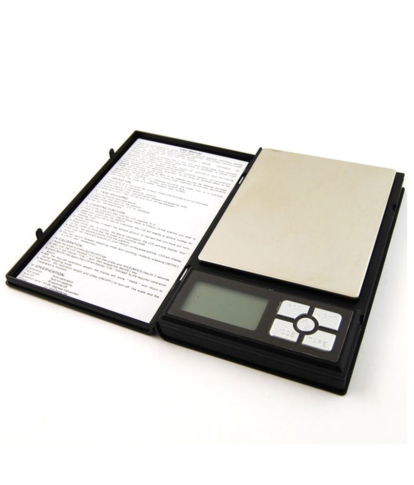 SRS 320 High Precision Jewellery weighing with 500g capacity and green backlight - Notebook Scale