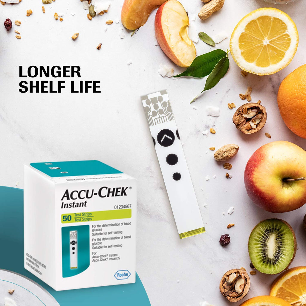 Accucheck Instant Glucometer strips  by cheap healthx247.com