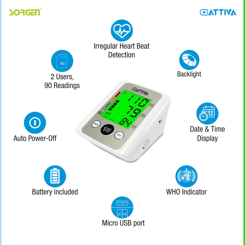 Sorgen® Attiva Blood Pressure BP Monitor