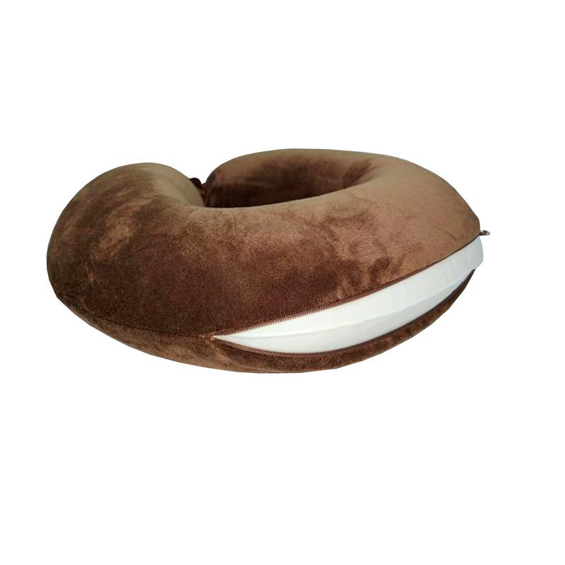 Viaggi U Shape Memory Foam Soft Travel Neck Pillow for Neck Pain Relief Cervical Orthopedic Use Comfortable Head Neck Rest Pillow