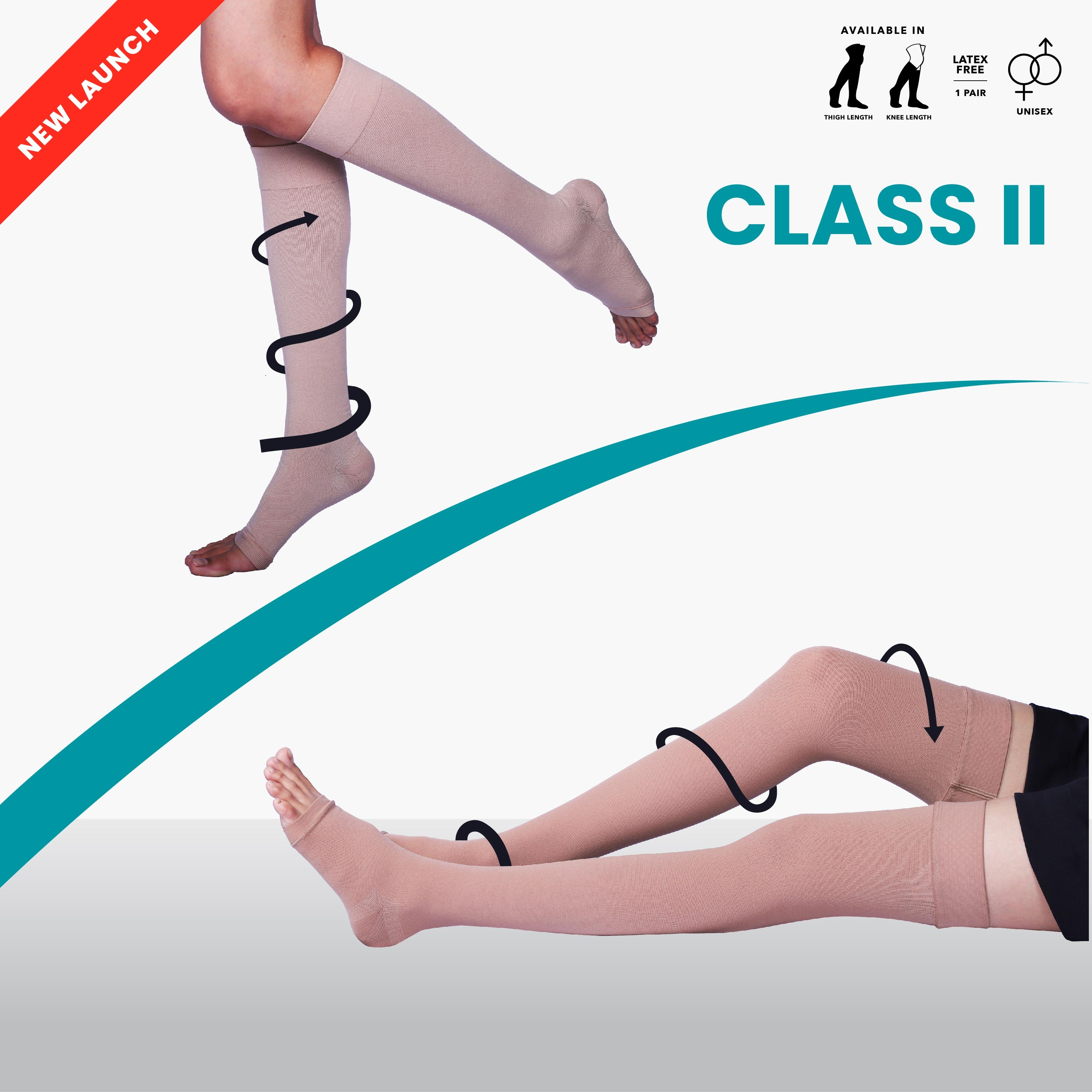Class II- Premiere (Cotton) Compression Stockings by Sorgen®