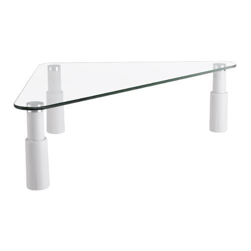 Defianz Tempered Glass Monitor Riser - Height Adjustable, Triangle for Corners