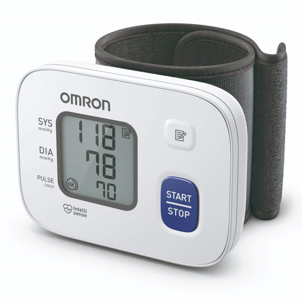 Omron HEM 6161 Fully Automatic Wrist Blood Pressure Monitor with Intellisense Technology, Cuff Wrapping Guide and Irregular Heartbeat Detection for Most Accurate Measurement