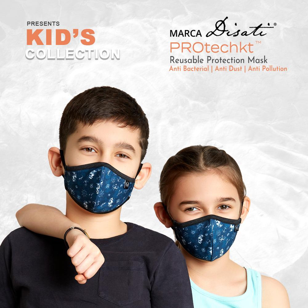 Protechkt KIDS Ebony Reusable outdoor protection mask (Pack of 3)