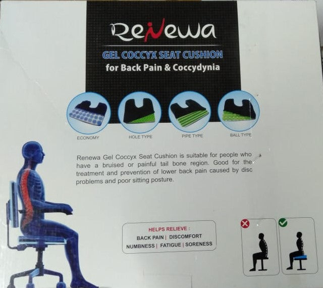 Renewa Gel Coccyx Seat Cushion / Pillow