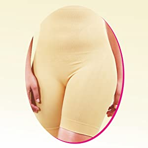B Slim Beige Soft Sleek Under Clothing Seamless High Waist Women Body Shapewear Shorts