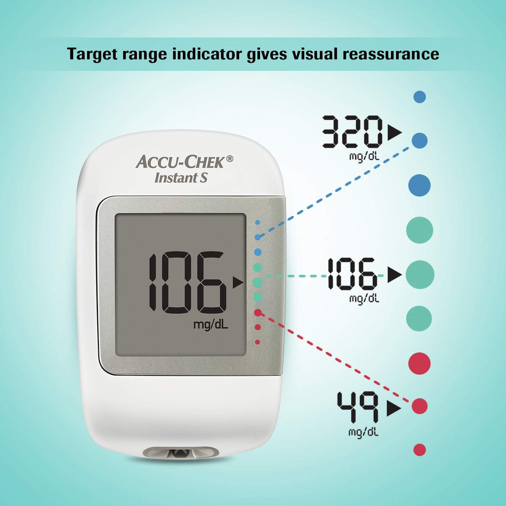 Accu-Chek Instant S Glucometer with Free Test Strips, 10 Count