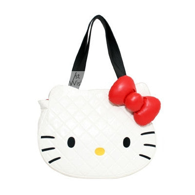 Loungefly Hello Kitty White Quilted Face Tote Bag