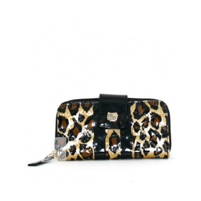 Loungefly Hello Kitty Leopard Patent Embossed Wallet