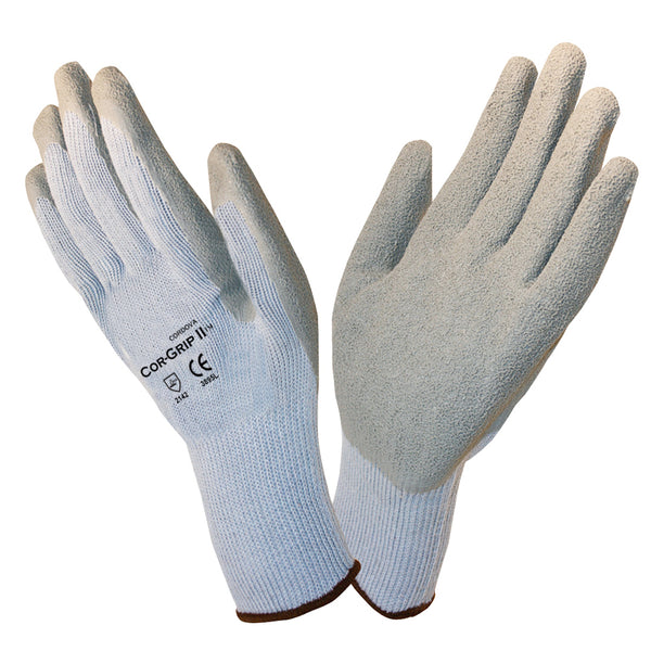 COR-GRIP™, Latex, Crinkle Gloves  12 Pairs
