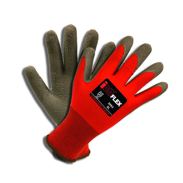ION-FLEX™, Latex, Crinkle Gloves - 12 Pairs