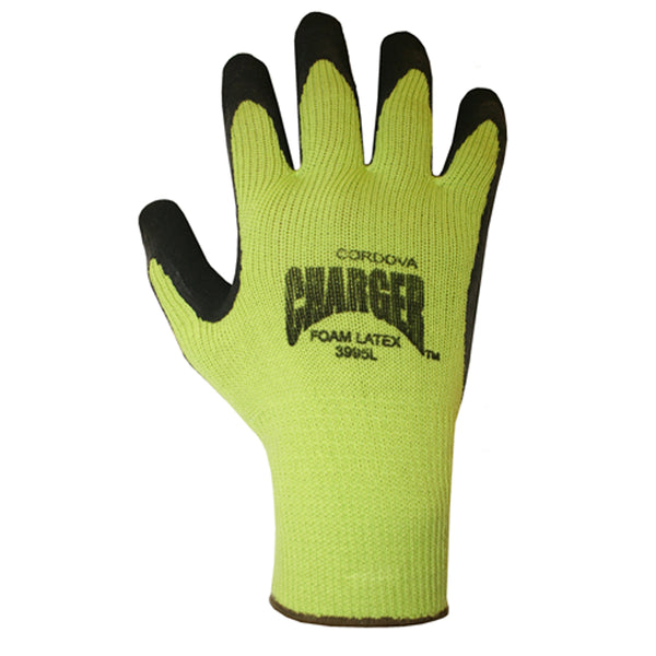Charger™, Latex, Foam Gloves -  12 Pairs