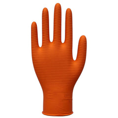Nitri-Cor Z-Tread Disposable Nitrile Hi-Vis Orange Gloves - Box of 100