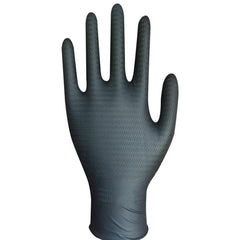 IN STOCK! $15.25  Nitri-Cor  Z-Tread  Nitrile Gloves, Black - Box of 100