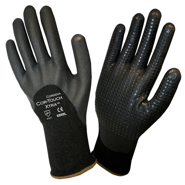 COR-TOUCH XTRA™, Nitrile, Foam, Dots Gloves - 12 Pairs