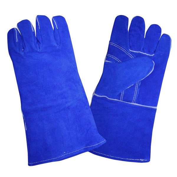 Select Shoulder Leather Welder Gloves, Blue, XL - 12 Pairs