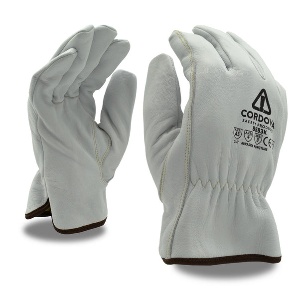 Premium Goatskin Cut Resistant Driver Gloves - 12 Pairs