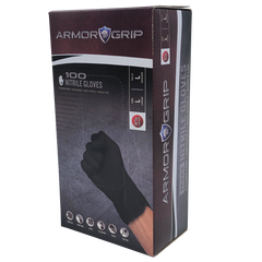 Armor Grip 4 Mil Black Nitrile Gloves - Box of 100